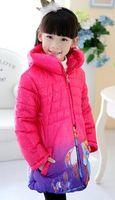 Wholesale Girl Children Princess Coat - 1PCS,KIDS coats girls princess winter warm Coat For Girls cotton padded jacket girls outerwear Children clothes 3color free shipping
