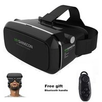 Wholesale Movies For Iphone - VR BOX Case Game Controller Head-mounted Google Virtual Reality 3D Video Movie Game Glasses for iPhone Samsung Smart Phone