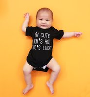 Wholesale Wholesale Baby Clothes Supplies - Baby bodysuits Long sleeve Letters brief romper Baby clothes Newborn clothing Wholesale 100%cotton thin 2016 summer Maternity supplies