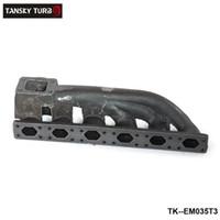 flange do colector venda por atacado-TANSKY-novo T3 Turbo Flange 38mm Wastegate Flange Ferro Fundido Manifold Para BMW E36 / E46 TK-EM035T3