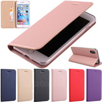 Wholesale Leather Magnetic Wallet - Ultra Slim Magnetic Leather Stand Wallet Flip Case Cover Protective Shell for iPhone X iPhone 8 iPhone 8 Plus iPhone 7 iPhone 6 iPhone SE