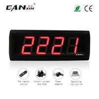 """Wholesale Led Digital Count Up - [GANXIN] Cheap 2.3""""4 Digits High Character LED Digital Counter Red Color LED Count Down Up Totalizer 0-9999 Counter with Wireless Control"""