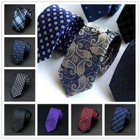 Wholesale Narrow Silk Ties - 2016 New Korean Fashion Polyester Mens Silk Jacquard Woven Tie 26 Colors Wedding Party Casual Narrow Ties Business Men Silk Ties Neckties