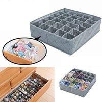 Wholesale Case Storage Bamboo - Bamboo Charcoal Fibre Bag Organizer Clothing Storage Box Organizer For Bra Clothes Case Underwear Container Organizer YYA360