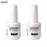 Wholesale beauty nails online - Elite99 ml Nail Art Decorations Gel Nail Polish Foundation for Art Beauty LED Lamp Needed Top And Base Coat UV Gel Nail