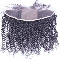 Верхняя оценка 8A Human Hair 4 * 4 Silk Top Full Lace Frontal Closure 13x4 Дешевые бразильские волосы Silk Base Lace Frontal Kinky Curly