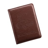 Wholesale Drive Document - Wholesale- Russian Driver's License PU Leather Cover for Car Driving Documents Business Card Holder ID Card Holder -- BIH004 PM15