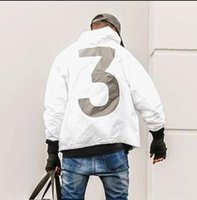 Wholesale Double Hooded Jacket - YEEZUS Jacket Men KANYE WEST Hip Hop Windbreaker MA1 Pilot Mens Jackets Tour Baseball Supremo Jaqueta Masculina Season 3 Double Layer Coat