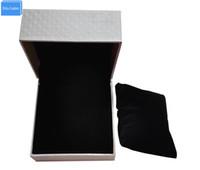 bej yastıklar toptan satış-Siyah / bej / kırmızı dış kağıt deri iç kadife yastık Takı seyretmek kutusu ve ambalaj, toptan tedarikçisi porta joias relogio DHgate Satmak