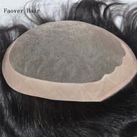 indian, cabelo, homens, toupee venda por atacado-Cabelo humano indiano natural preto cor natural onda 10