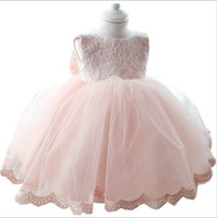 Wholesale Sh Girls - new princess dress for girls baby kids clothes children wedding clothing summer 1 years birthday tutu dresses for girl hight quality free sh