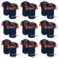 Wholesale Blue Carp - St. Louis Cardinals Yadi Waino Tsunami Carp Dex T. Pham Seung-hwan Oh DeJong 2017 Little League World Serie Series Jersey Navy Blue