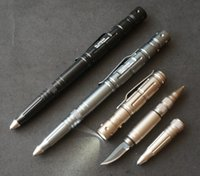 Wholesale Tactical Multi Pen - Multi purposes survival self-defense tactical pen LAIX B007 ballpen with knife and LED light outdoor gear EDC tool
