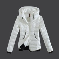 Wholesale French Parka - French Brand Winter Jacket Coat Women Puffy Duck Down Ladies Parka Stand Collar Hoodies 3 Colors