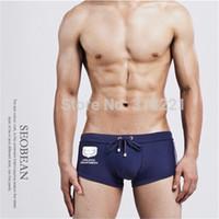 Wholesale Cool Boys Swimwear - Wholesale-Wholesale 20pcs Lot Hot Mens shorts Cool boys Swimming Trunks Swimwear Nylon Comfortable Briefs 4sizes S M L XL