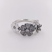 Wholesale ring .925 online - Authentic Sterling Silver Rings Shimmering Bouquet Ring Fits European Pandora Style Jewelry CZ