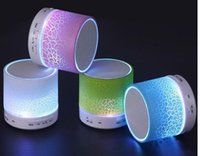 Wholesale Iphone Colored Usb - Mini Bluetooth Speakers LED Colored Flash A9 Handsfree Wireless Stereo Speaker FM Radio TF Card USB For iPhone 6 7 6S Samsung S6