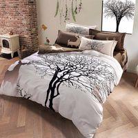 rainha da cama dos cervos venda por atacado-Veados árvore imprimir conjunto de cama de espessura de linho de algodão Bed Linens Queen / King size inverno capa de edredão set frete grátis
