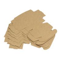 ingrosso carta eco kraft-Scatola di cartone pieghevole mini 65 * 65 * 30mm Scatola di cartone amichevole Kraft Eco Contenitori di sapone fatti a mano di alta qualità 0 35nx KK