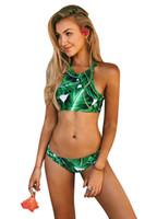 Wholesale Highest Quality Brazilian Bikinis - Summer New Swimwear for Women 2018 Sexy Bikini Brazilian Printed Floral Flower Women Swimsuits Cheap High Quality Female Swimsuit FS1407