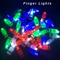 LED Finger Lights Glowing Dazzle 4 Colori Laser Emitting Finger Ring Travi Anello lampeggiante per la festa di nozze Celebrazione di Natale