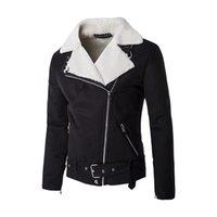 Wholesale Men Fashion Wool Coats - Wholesale- New fashion men suede jacket coat lamb wool