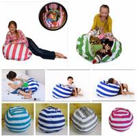 kinderzimmer stühle großhandel-4 Farben 63 cm Kinder Lagerung Sitzsäcke Plüschtiere Sitzsack Schlafzimmer Kuscheltier Raummatten Tragbare Kleidung Aufbewahrungstasche 10 stücke YYA814