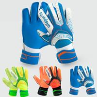 Wholesale Glove Guard - 2017 Child Kids Adult Professional Thicken full latex Football Goalkeeper Gloves Goalie Soccer Goal Keeper finger guard Non-slip