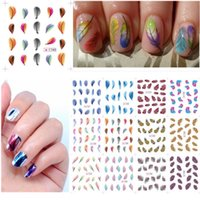 1 Scheda Strumenti Nail Art Feather leopardo di trasferimento dell'acqua decalcomanie degli autoadesivi Nails punte del manicure Sticker Hot