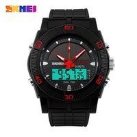 Original SKMEI 0981 Hommes Sport LED Digital Waterproof Date bracelet en caoutchouc Multifonction Power Power Wrist Watch