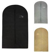 Wholesale clothing garment dust covers - 100*60cm Durable Nonwovens Clothes Dust Cover Suit Dress Garment Coat Storage Bag Wholesale