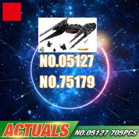 Wholesale Funny Ties - Lepin 05127 705Pcs Star Plan Series The Tie Model Fighter Set 75179 Building Blocks Bricks Educational Funny Toys As Gifts