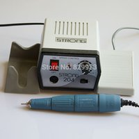 Wholesale Dental Lab Handpiece Marathon - Wholesale- 35000 RPM Dental Lab, Nail File & Podology Electric Nail Art Drill Polishing Machine Strong 204 + Marathon SDE-H37L1 Handpiece