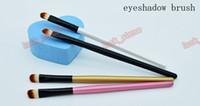 Wholesale Eyebrow Sponge Brush - wood handle cheap brush various color eyeshadow brush,lip brush ,eyebrow brush,eyeliner brush, sponge brush OEM order welcome