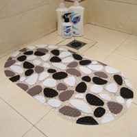 Wholesale pads for rugs - New Arrival PVC Non-Slip Bath mat Massage shower mats with sucker for child baby bath pad bathroom carpet rug accessories