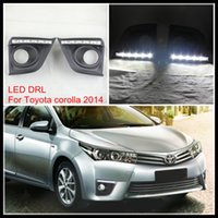 Car Styling LED DRL FOG LIHGT LAMPE Pour TOYOTA COROLLA 2014-15 LED brouillard DRL AUTO LED lumière de jour pour TOYOTA COROLLA DRL