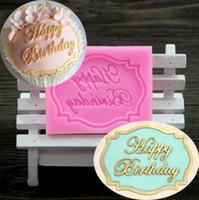 feliz aniversário molde venda por atacado-Feliz Aniversário silicone molde de chocolate fondant bolo decoração Cozinha Ferramentas