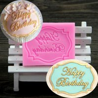 Wholesale Happy Birthday Mold - Happy Birthday silicone mold chocolate fondant cake decoration Kitchen Tools