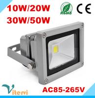 proyectores de alta potencia al por mayor-Lámpara para exteriores IP65 de alta potencia con luz de inundación LED reflector 10W 20W 30W 50W AC85-265V de alta potencia impermeable