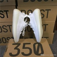 Wholesale Sport Sneakers Women Wholesale - ORIGINALS BOOST 350 V2 CREAM WHITE CP9366 Triple White BLACRE BLANC CORE KANYE WEST SPLY 350 V2 350V2 SUPPLY SNEAKERS SPORTS SHOES