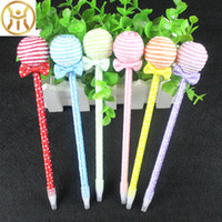 Wholesale stationery supplies for school children for sale - Group buy Cute Lollipops Ballpoint Pen School Supplies for Children Ball Pen Students korea Stationery kawaii pens for girl s gifts