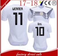 Wholesale Uniform Germany - new Germany soccer jerseys 2018 World Cup home white Germany football shirt customize 2017 MULLER OZIL GOTZE REUS KROOS HUMMELS men uniforms