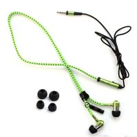 Zipper Cuffie In Ear 3.5mm per cuffie In-Ear Zip auricolare di colloquio di controllo metallo auricolari per lettore MP3 MP4 del telefono 2016 vendita calda di Freeshiping