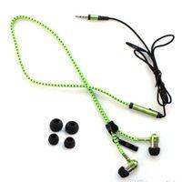 Wholesale zipper headphones sale resale online - Zipper Headphone In Ear Headphone mm In Ear Zip Earphone Control Talk Metal Earphones for phone mp3 mp4 player hot sale Freeshiping