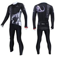 Wholesale Discovery Cycling Jersey Long Sleeves - 2014 discovery men cycling Jersey suits in winter autumn fall with long sleeve bike top & (bib) pants in cycling clothing, bicycle wear