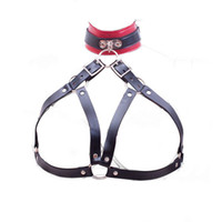 Wholesale sexy sex bras - New Arrival Neck Collar Open Bra Nipple Bound Neck Ring Restraint Bondage Set PU Leather Adult Sex Toys Sexy Sex Products