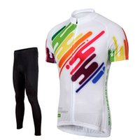 Wholesale Colorful Mens Suits - Tasdan Cheap Cycling Jerseys Sets Colorful Mens Suits Cycling Jersey Cheap Bike Jerseys Padded Cycling Pants