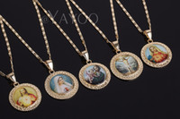 Wholesale bead chain jesus for sale - Group buy Jesus Necklace Women Men Cross Beads Jewelry Trendy Gold Color Pendant For Vintage Statement Holiday Jewelry Accessories