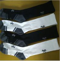 Wholesale Size Kids Legging - under UA knee high long socks for women men crew socks armour winter sports warm socks legging warmer long stockings for big kids one size