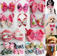 Wholesale Hot Bow - 100pc lot 2016 Hot Sale butterfly pet cat puppy dog bow tie Grooming Bowknot Pet Accessories PE17